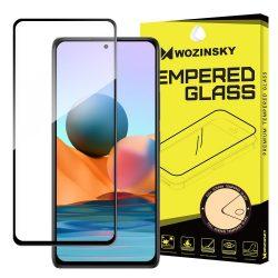 Xiaomi Redmi Note 10 Pro / Note 10 Pro Max edzett üveg fekete hajlított TELJES KÉPERNYŐS FULL SCREEN HAJLÍTOTT tempered glass kijelzőfólia kijelzővédő védőfólia karcálló kijelzős