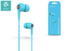 Devia univerzális sztereó felvevős fülhallgató - 3,5 mm jack - Devia Kintone In-Ear Wired Earphones - blue