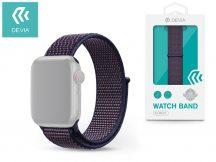Apple Watch lyukacsos sport szíj - Devia Deluxe Series Sport3 Band - 38/40 mm - indigo