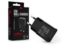 Maxlife USB hálózati töltő adapter - Maxlife MXTC-01 USB Wall Charger - 5V/1A - fekete