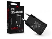 Maxlife USB hálózati töltő adapter - Maxlife MXTC-01 USB Wall Fast Charger - 5V/2,1A - fekete