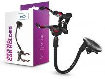 Setty univerzális műszerfalra/szélvédőre helyezhető PDA/GSM autós tartó - Setty 13485 Car Holder - fekete
