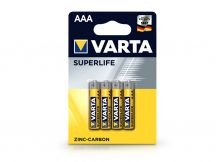 VARTA Superlife Zinc-Carbon AAA ceruza elem - 4 db/csomag